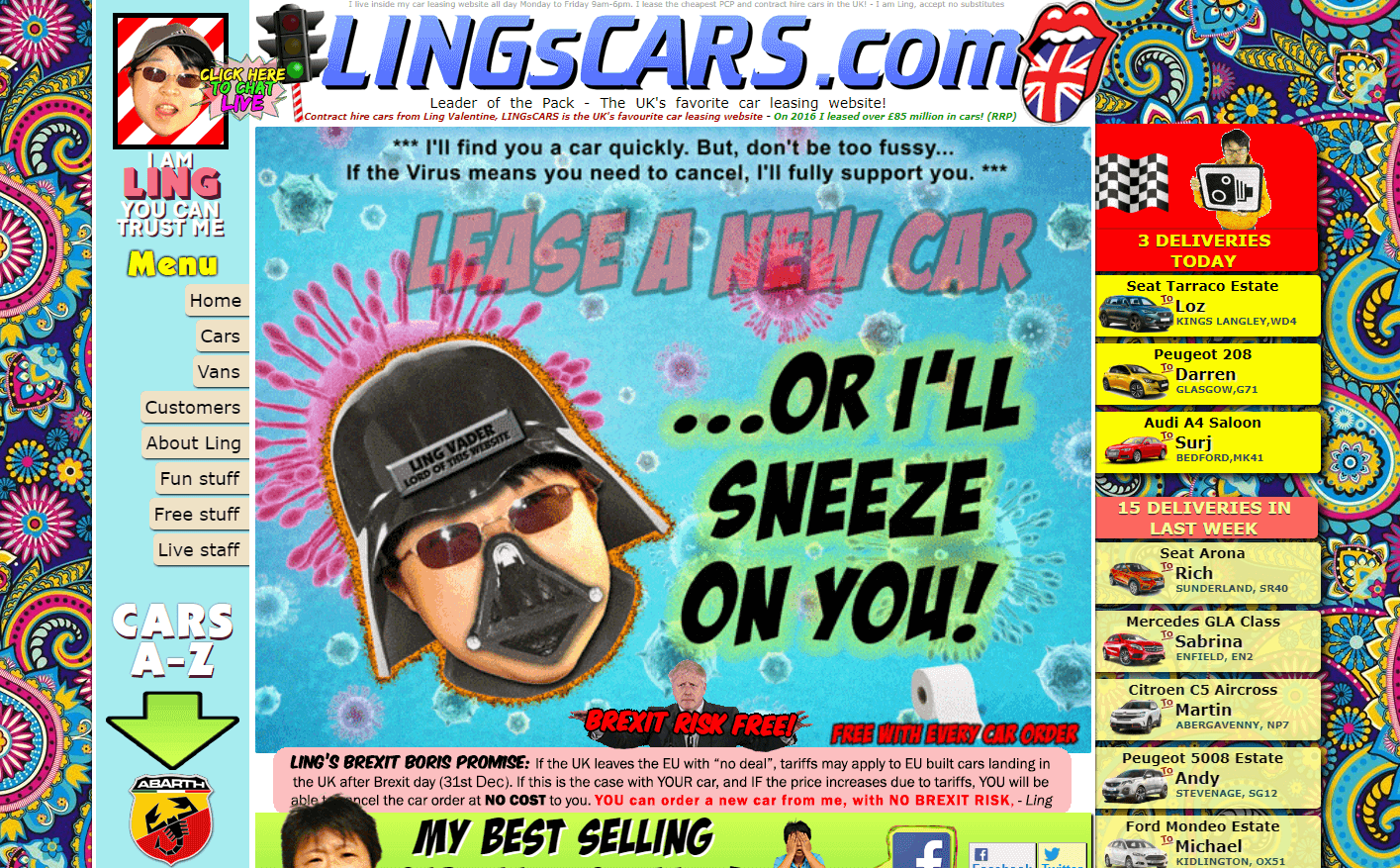 Lingscars as an example pf a bad website