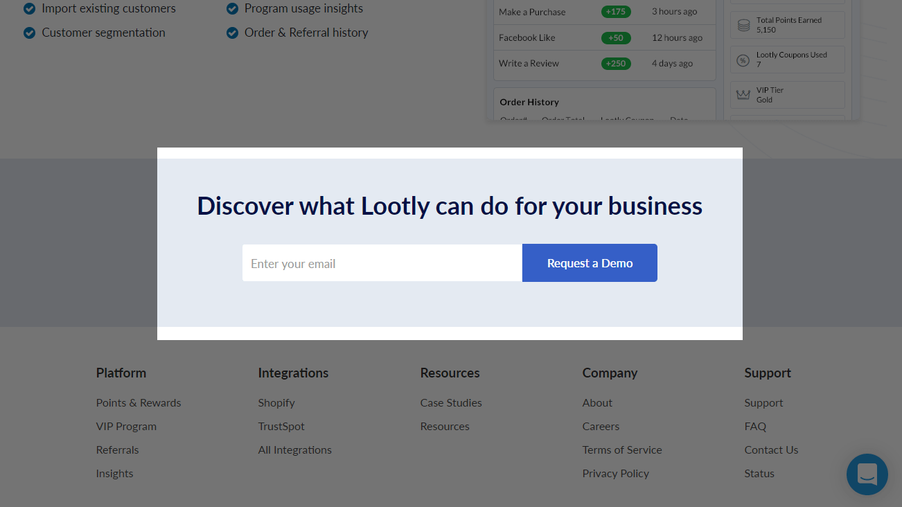Lootly's Call to Action (CTA)