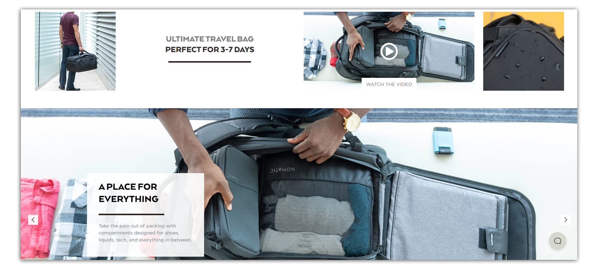 nomatic travel bag product