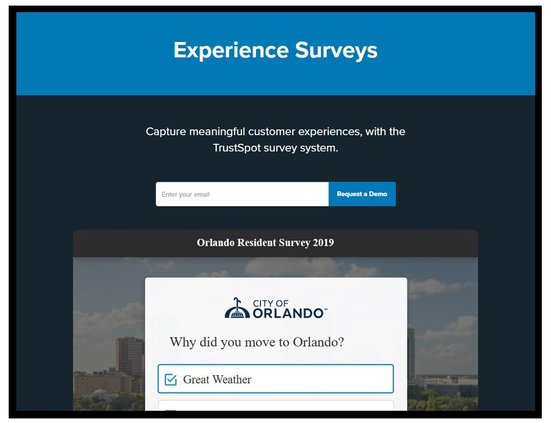 trustspot survey and net promoter score