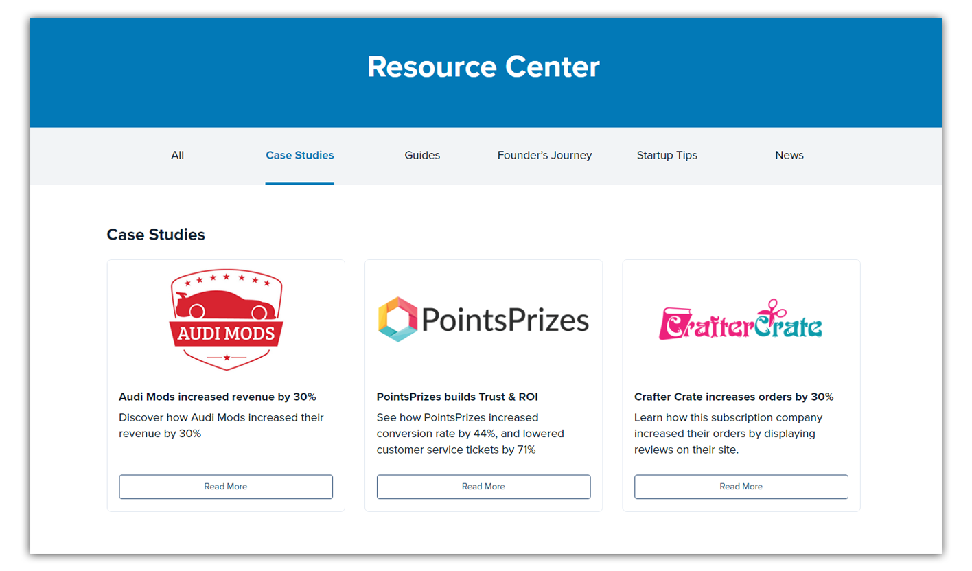 trustspot case studies on resource center
