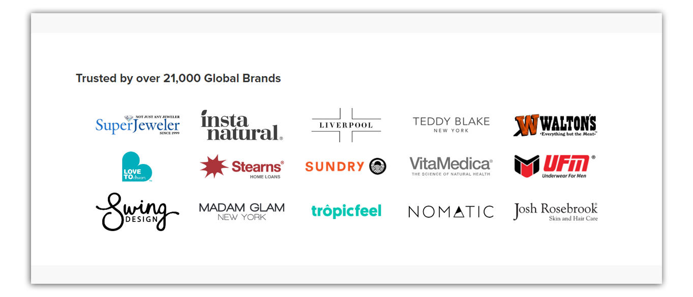 trustspot list of logos of its brands