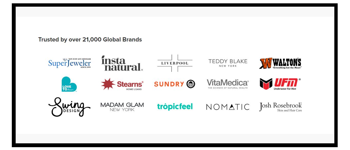 trustspot list of logos of its brands