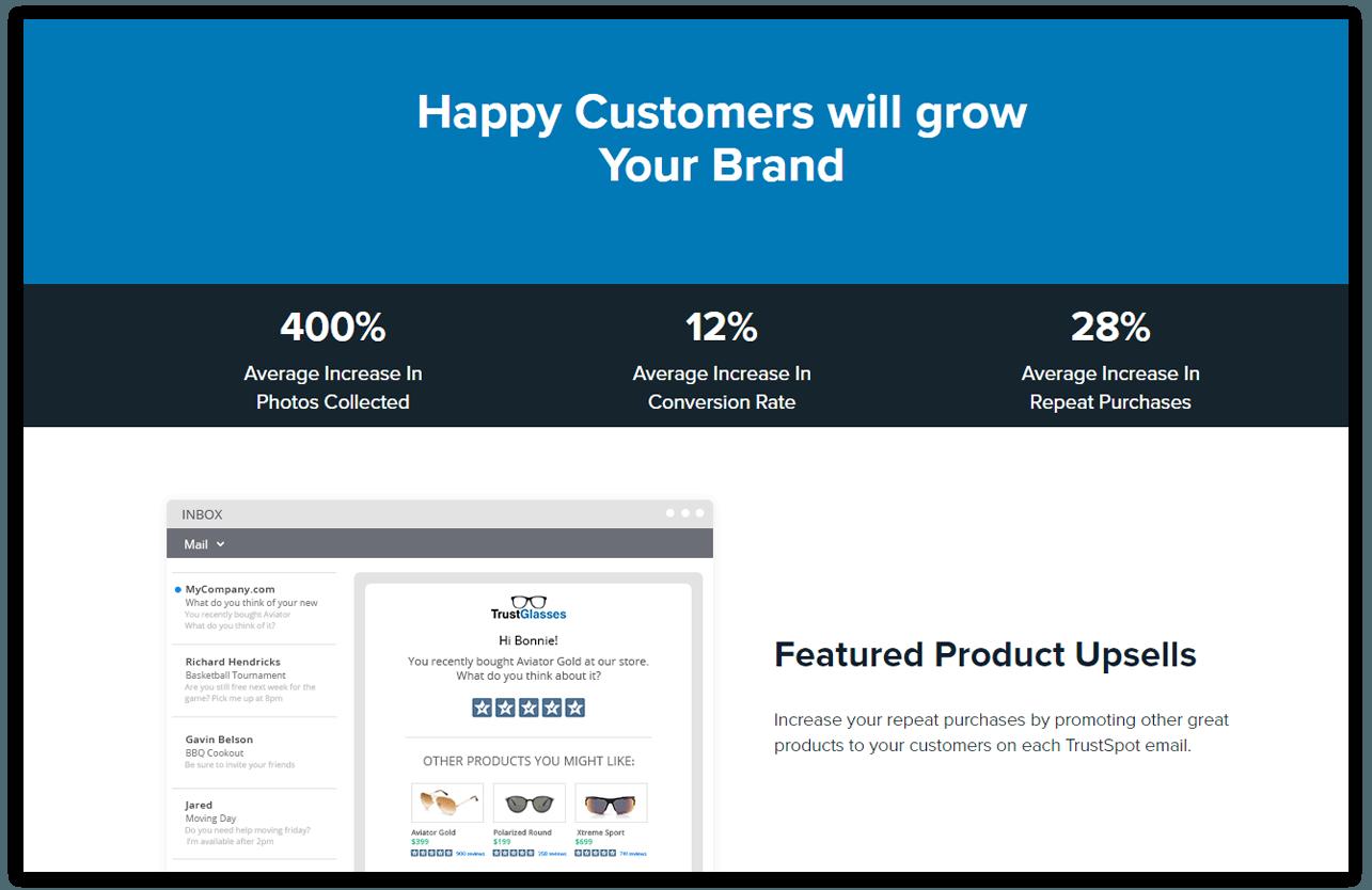TrustSpot Marketing Feature: Turn trust into sales