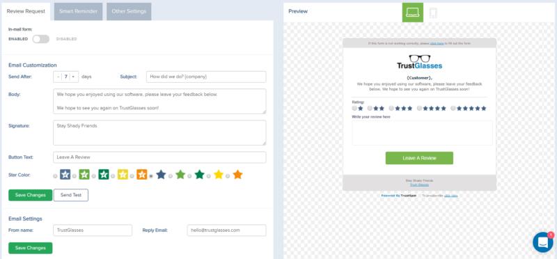 trustspot-email-settings